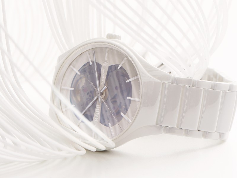 Rado True Open Heart is crafted in polished