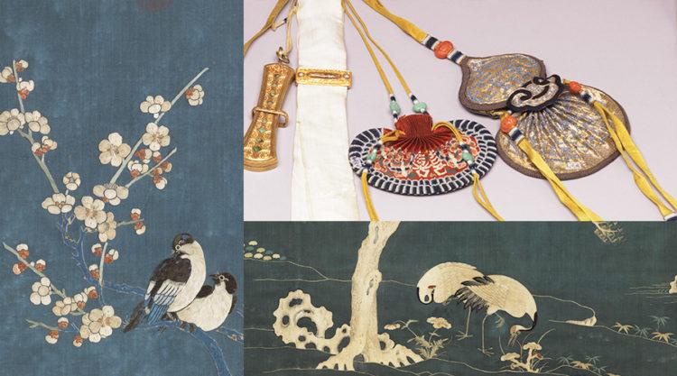 古人常於日常中運用富含吉祥寓意的刺繡圖案