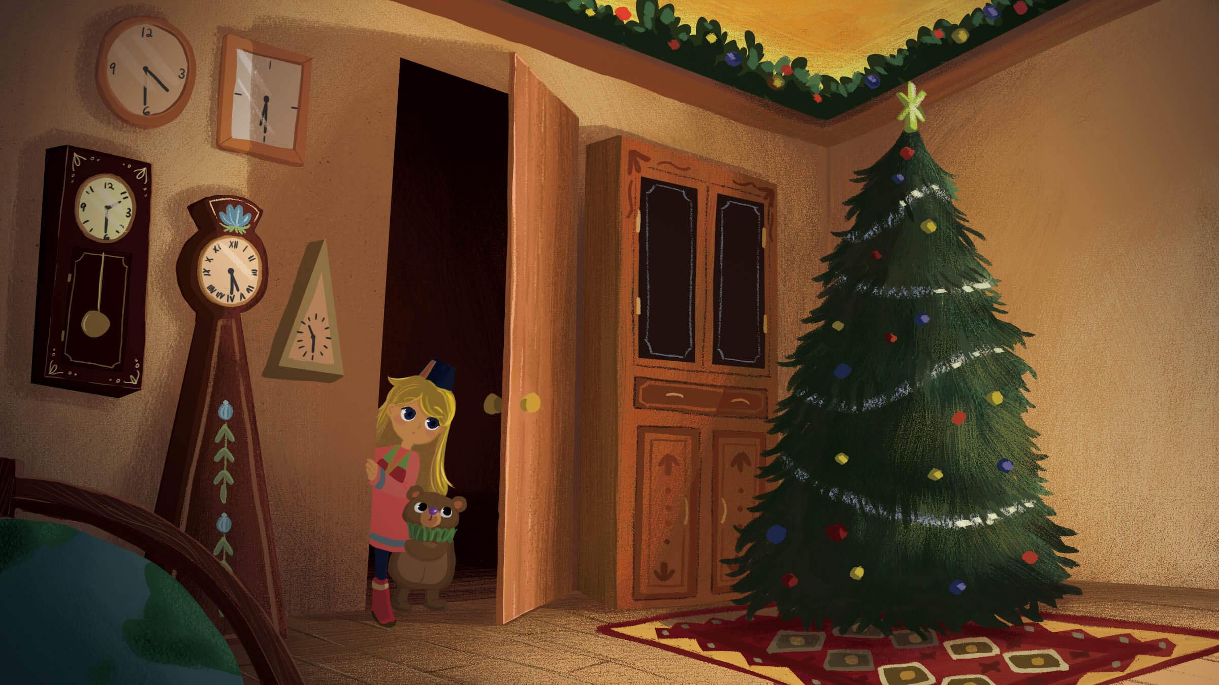 如果聖誕老人有孫女,她會不會在聖誕節特別難過呢?留美藝術家用繪本重新詮釋傳說故事