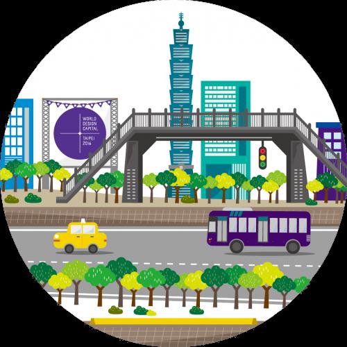 以人為本的步行城市:林蔭大道、天橋、地下道計畫
