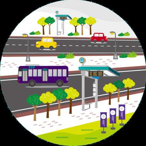 公共服務設施智能化:公車候車亭、站牌